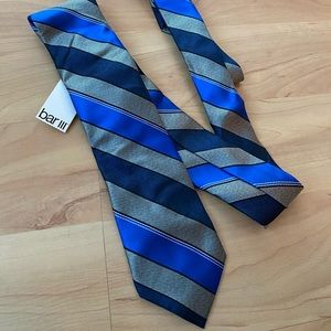 BAR III Blue and Grey Striped Tie